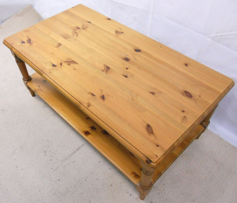 Antique Style Pine Long Coffee Table By Ducal